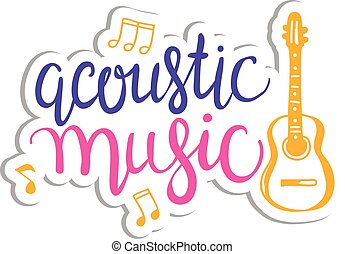 Colorful music background. Vector design concept