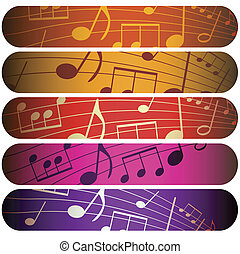 colorful music - design with notes