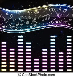 Colorful Music Eq Background - Colorful music background ...