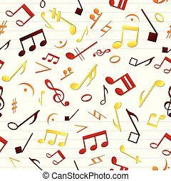 Colorful Music Seamless Pattern