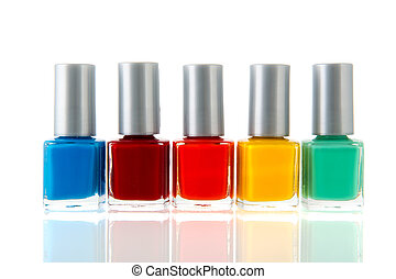 colorful nail polish