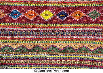 native american rug - Colorful native american rug - closeup...