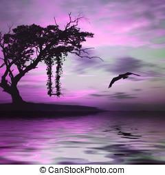 Colorful natural landscape