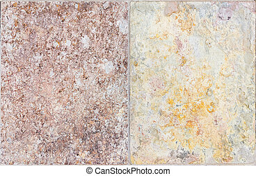Colorful natural stone tiles wall