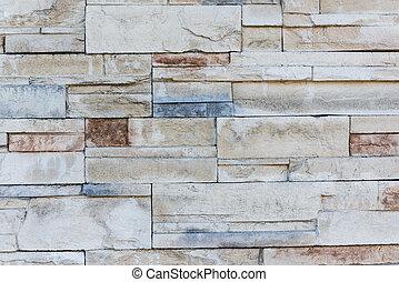 Colorful natural stone wall