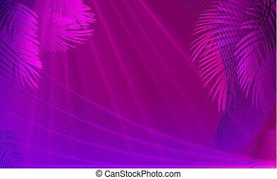 Colorful naturalistic tropical background from the leaf of Libistones (Palm). Vector Illustration