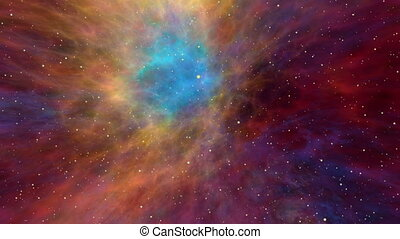 Colorful Nebula and Star Fields, Across the Universe -...