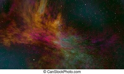 Colorful Nebula and Stars, Universe - Colorful nebula and...