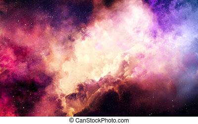 Colorful nebulae - Colorful nebula in deep space