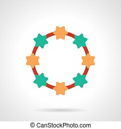 Colorful necklace beads flat color vector icon