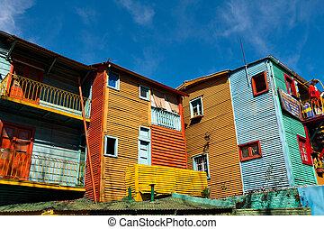 Colorful neighborhood La Boca, Buenos Aires Argentine
