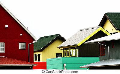 Colorful neighborhood.
