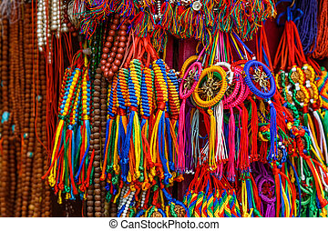 Colorful nepalese keyrings