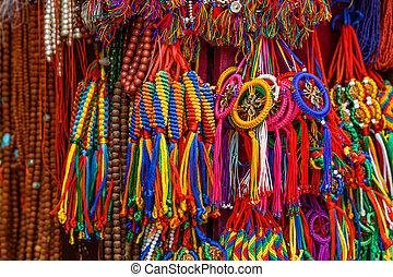Colorful nepalese keyrings