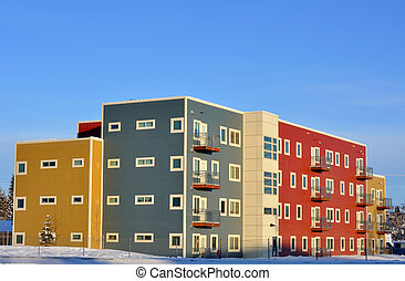 Colorful New Apartments in Winter