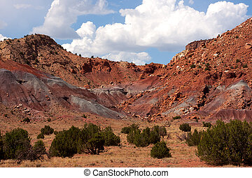 Colorful landscape and scenery in New Mexico near Ghost Ranch