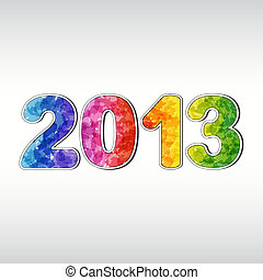 Colorful New year 2013