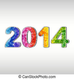 Colorful New year 2014. EPS10