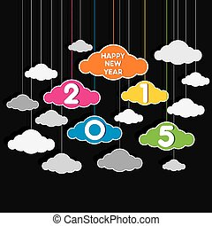 colorful new year 2015 design