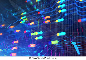 Colorful node backdrop - Glowing colorful node backdrop....
