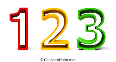 Colorful Numbers 1 2 3 #2