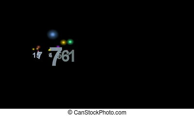 Colorful Numbers against black background