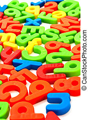 Colorful numbers and letters