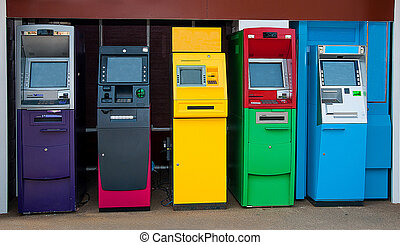 Colorful of Automated teller machine