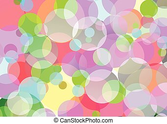 Colorful of bokeh.Vector illustration