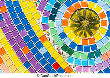 colorful of ceramic mosaic background