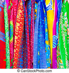 colorful of clothes