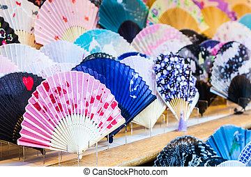 Colorful of fan.