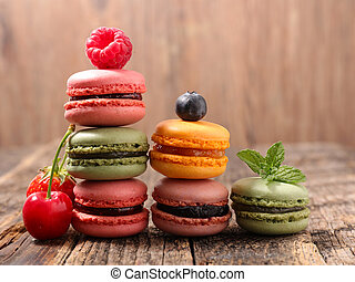 colorful of french biscuit, macaroons