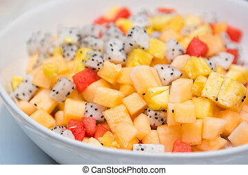 colorful of fruit salad for healthy