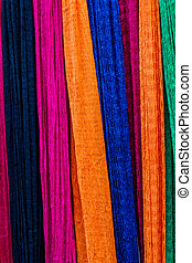 Colorful of hammock made from nylon.