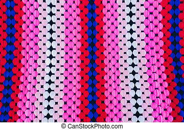 Colorful of handmade hammock. Pattern Background, these handmad