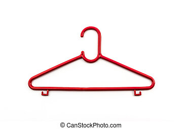 Colorful of hanger clothes.