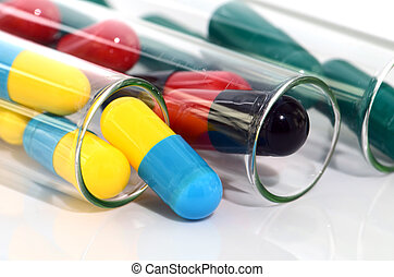 Colorful of oral medications.