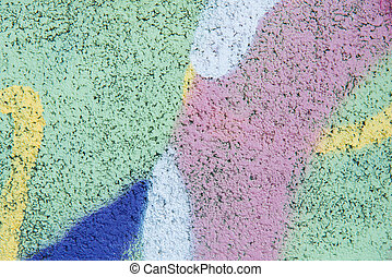 Colorful of painting on cement wall for background