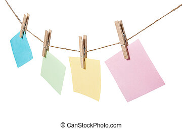 colorful of paper notes hanging
