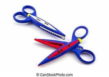 Colorful of scissors.