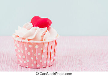 Colorful of sweet cup cake . - Colorful of sweet cup cake on...