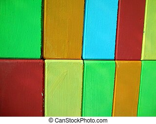 colorful of wooden toy - colorful background