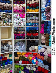 Colorful of Yarn Balls Wool