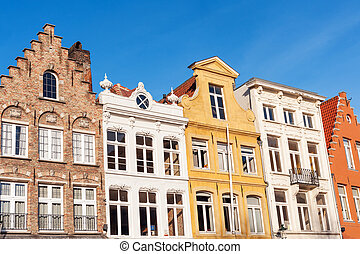 Colorful old merchant houses