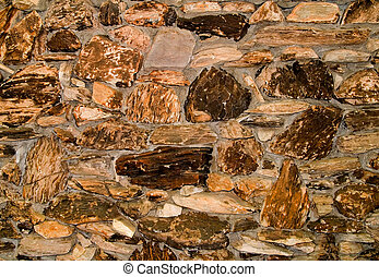 Colorful old stone wall