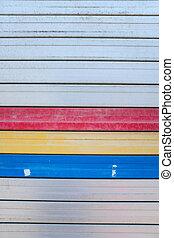Colorful on steel shutter door 5