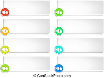 Colorful options banner template. Vector EPS 10