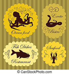 Colorful organic farmers market food labels frames and ...