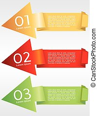 Colorful Origami Banner Template.
